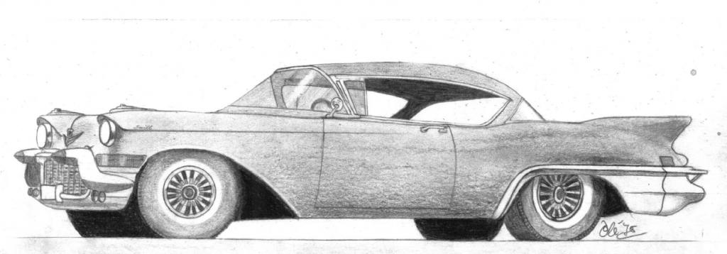 Cadillac tegning